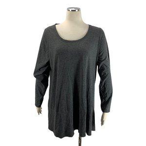 Motherhood Maternity XL Gray Shirt Long Sleeve Hi